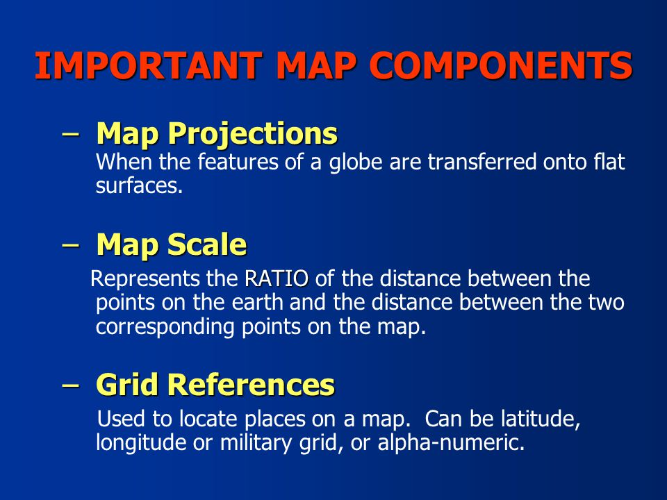 7 Important Map Components