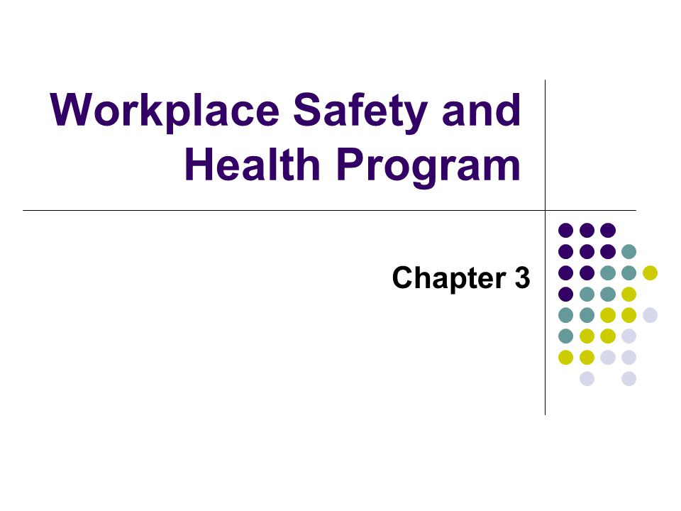 Workplace Safety and Health Program
