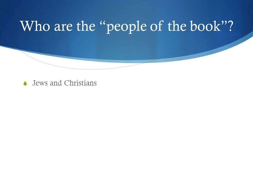 Who are the people of the book