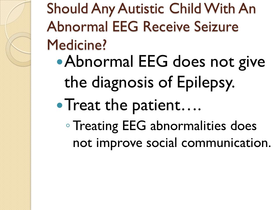abnormal eeg in adult not epileptic