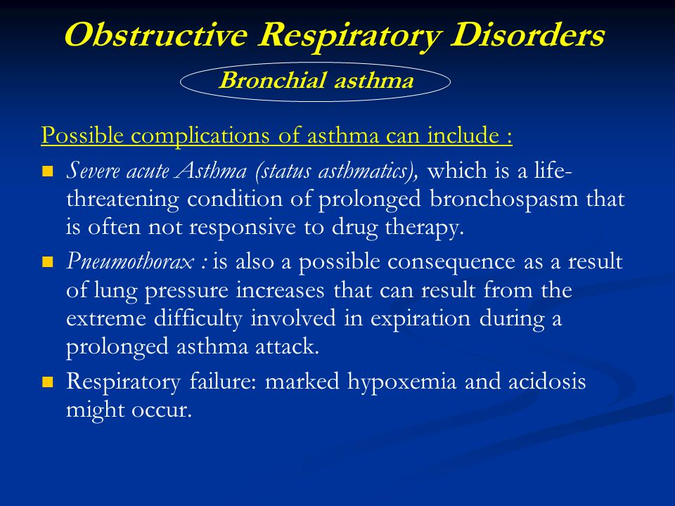 Obstructive Respiratory Disorders