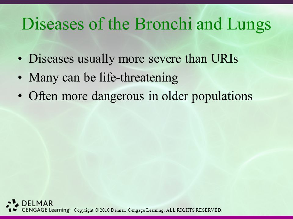 Diseases of the Bronchi and Lungs