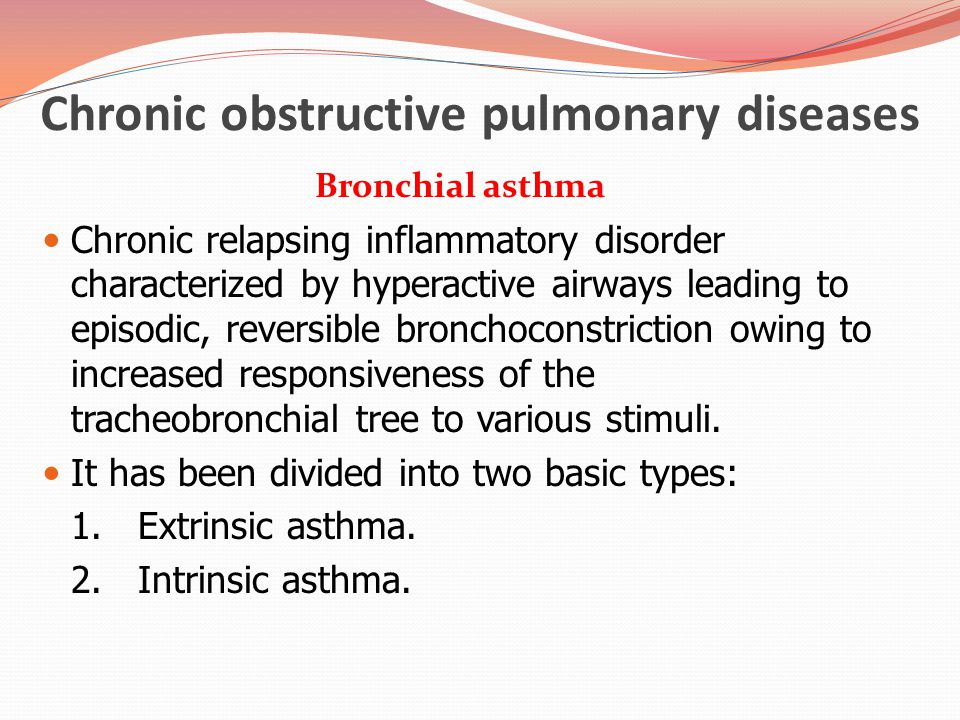 asthma intrinsic asthma Bronchial asthma is a chronic, inflammatory disease of the respiratory tract, which  is  allergic or extrinsic asthma non-allergic or intrinsic asthma mixed forms.