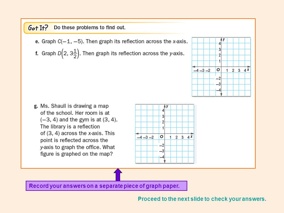 Record Your Answers On A Separate Piece Of Graph Paper.