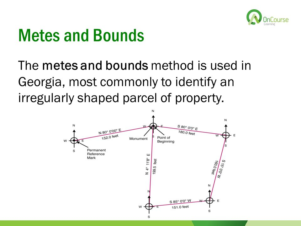 Chapter ppt video online download for Metes and bounds