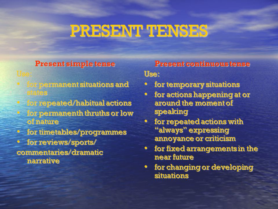 permanent present tense pdf download