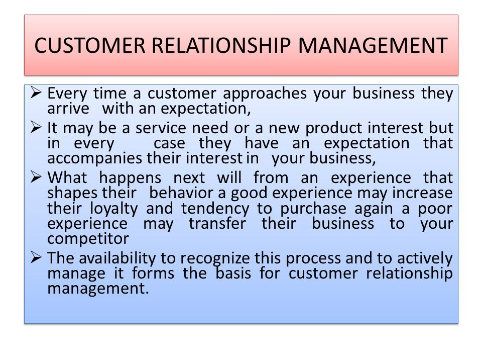 CUSTOMER RELATIONSHIP MANAGEMENT - ppt download