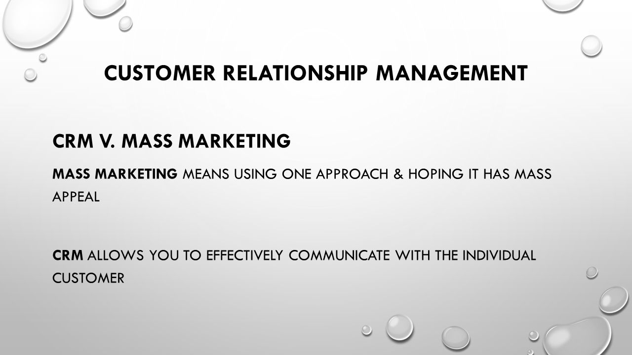what does customer relationship management mean