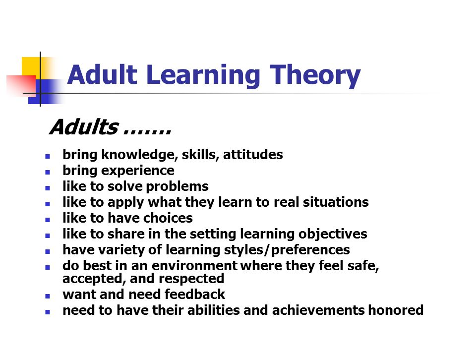 Adults With Learning 103