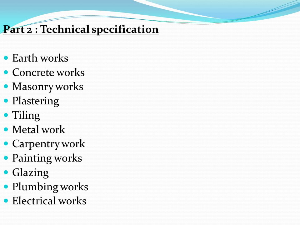 Specification & Quantities Estimating - ppt download