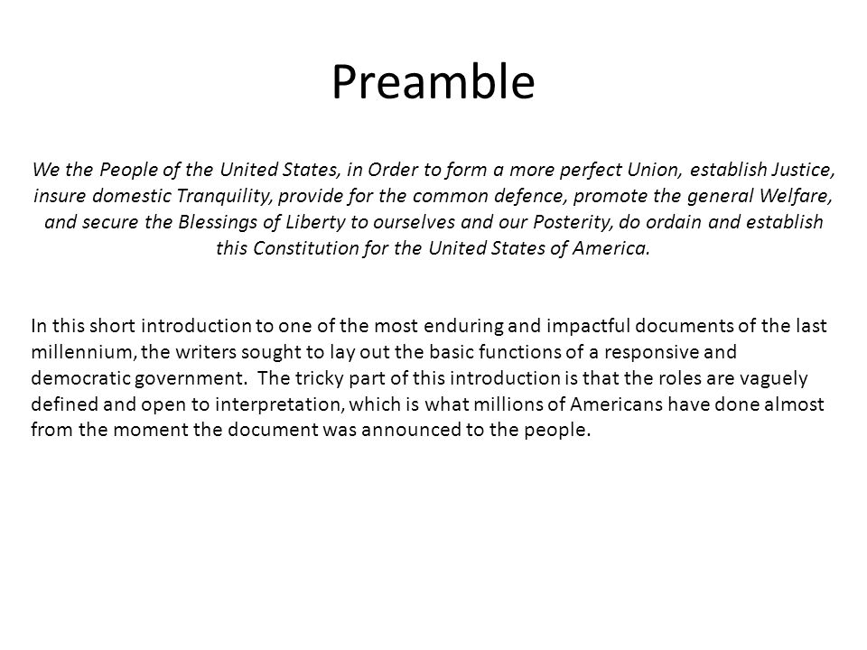 The U.S. Constitution. - ppt video online download