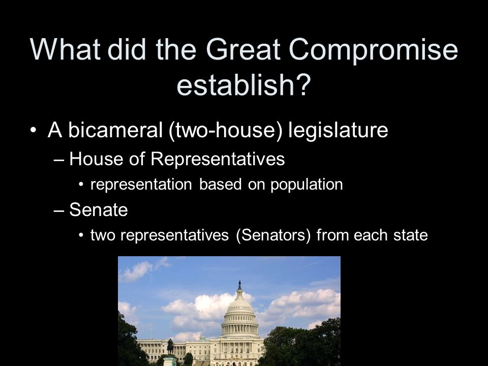 What did the Great Compromise establish