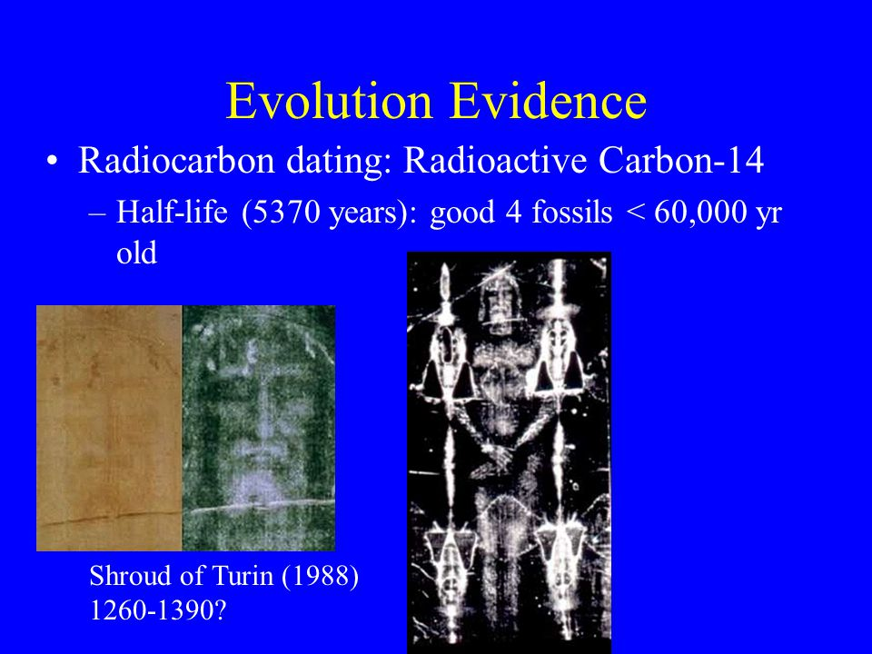 Radiocarbon dating of fossils taken from caves