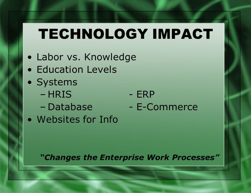 changes in fashion and technology impact of the internet Technology is not only for google, microsoft, and intel technology is also very important to the fashion industry and textile inudstry if you work in the.