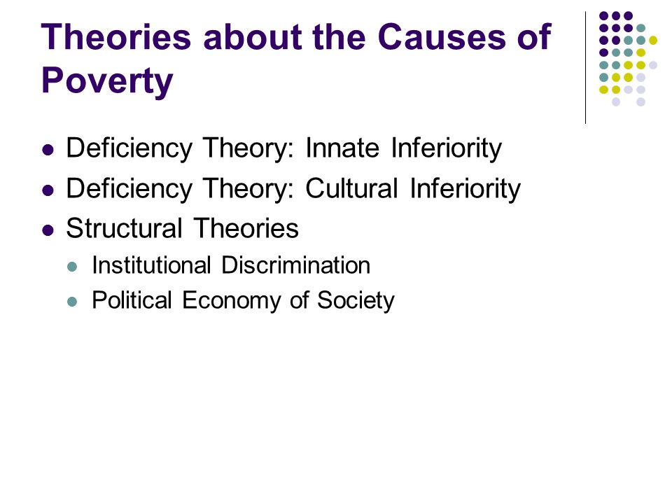 poverty and crime sociology Sociology electives students choose two courses (8 credits) from among the designated criminology courses or courses in other areas of sociology such as cultural anthropology sociology of minority groups sociology of family wealth, poverty and power race and ethnicity or other courses in the department.