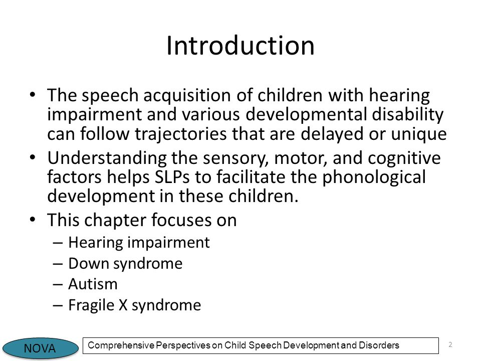 Early Intervention for Children With Hearing Loss