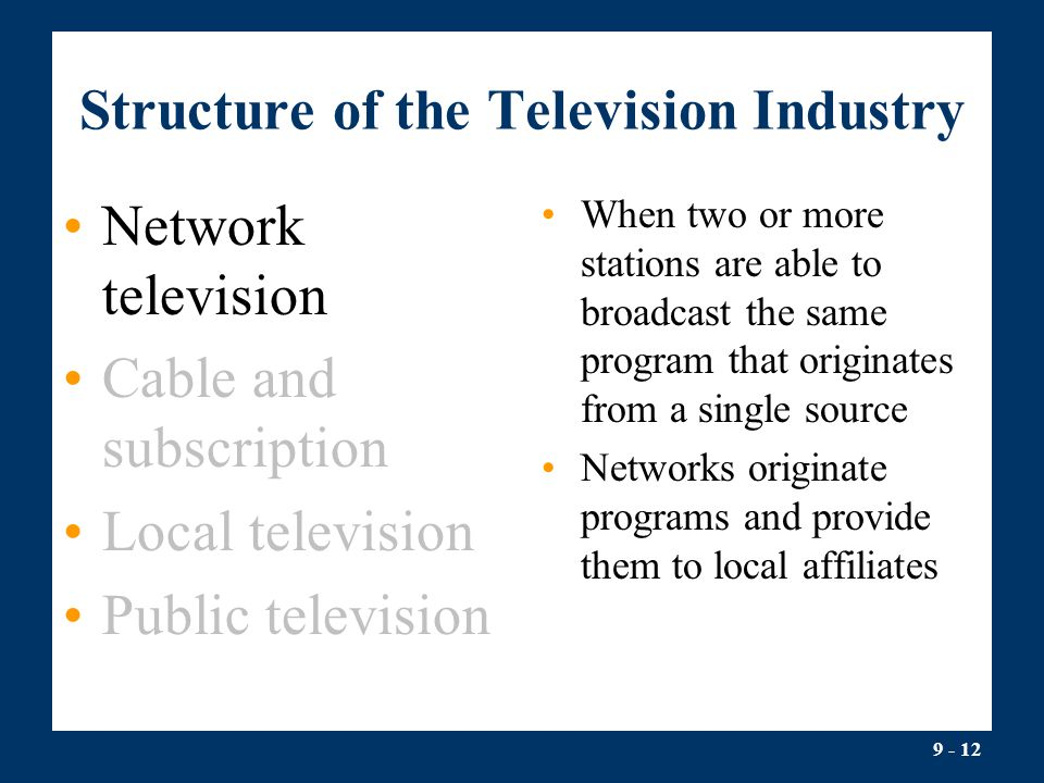 Structure of the Television Industry