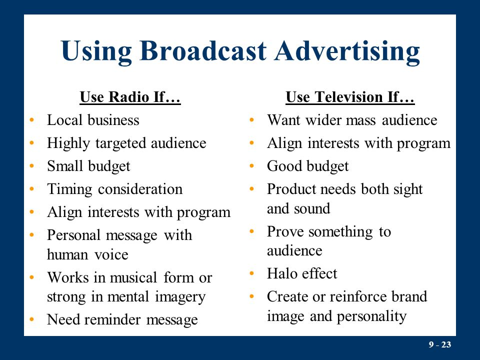 Using Broadcast Advertising