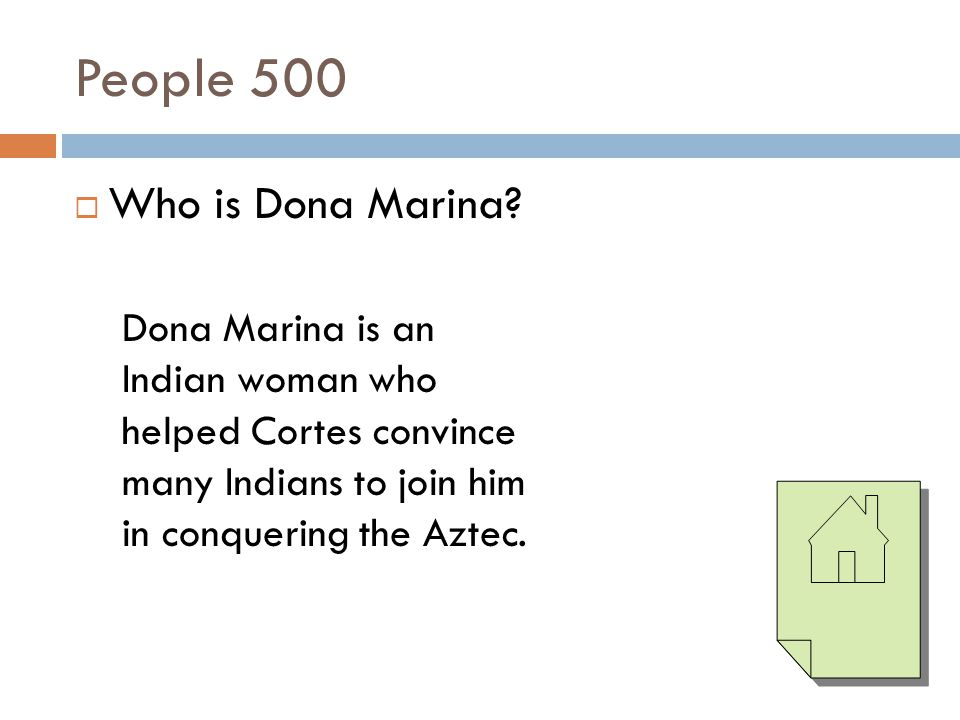 People 500 Who is Dona Marina