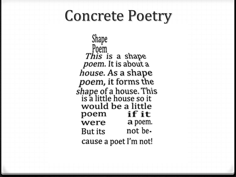 how to create a concrete poem