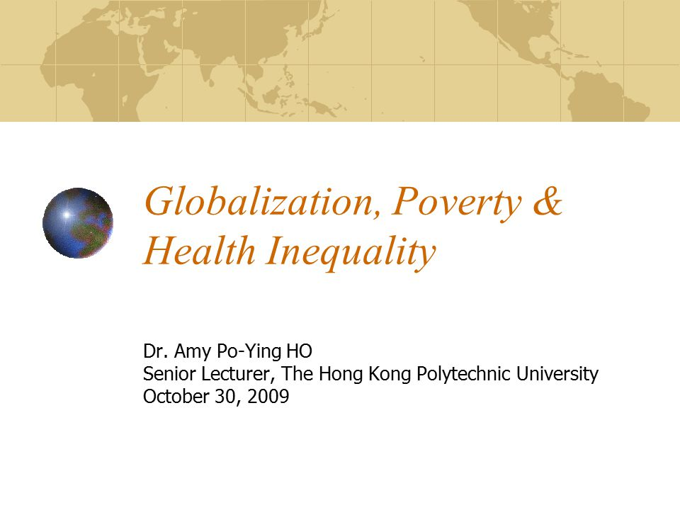 globalization and poverty Globalization and poverty 113 summer/fall 2005 potential links between the core concepts while pointing out ten potential links and permutations, three are discussed in the section as a more lengthy discussion is.