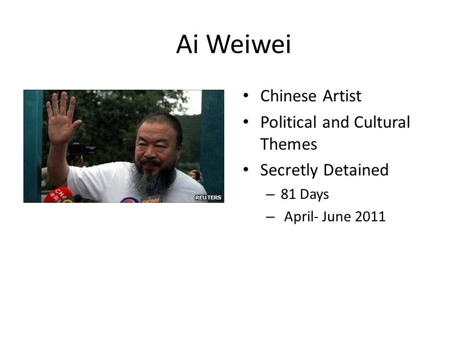 Ai Weiwei Chinese Artist Political and Cultural Themes