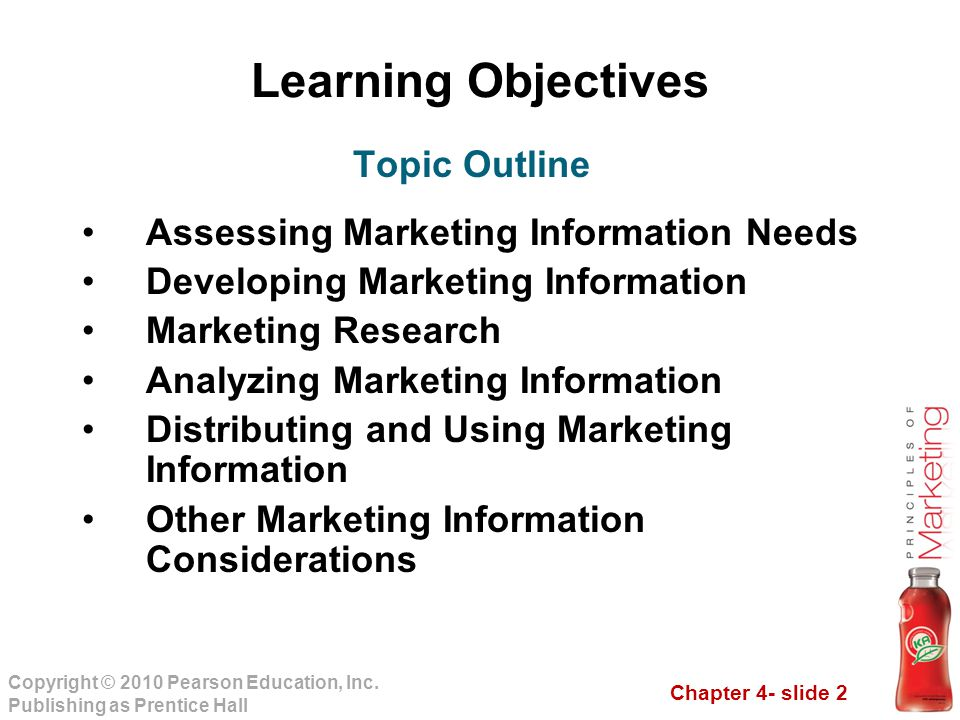 Learning Objectives Topic Outline