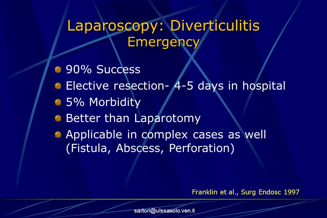 Laparoscopy: Diverticulitis Emergency