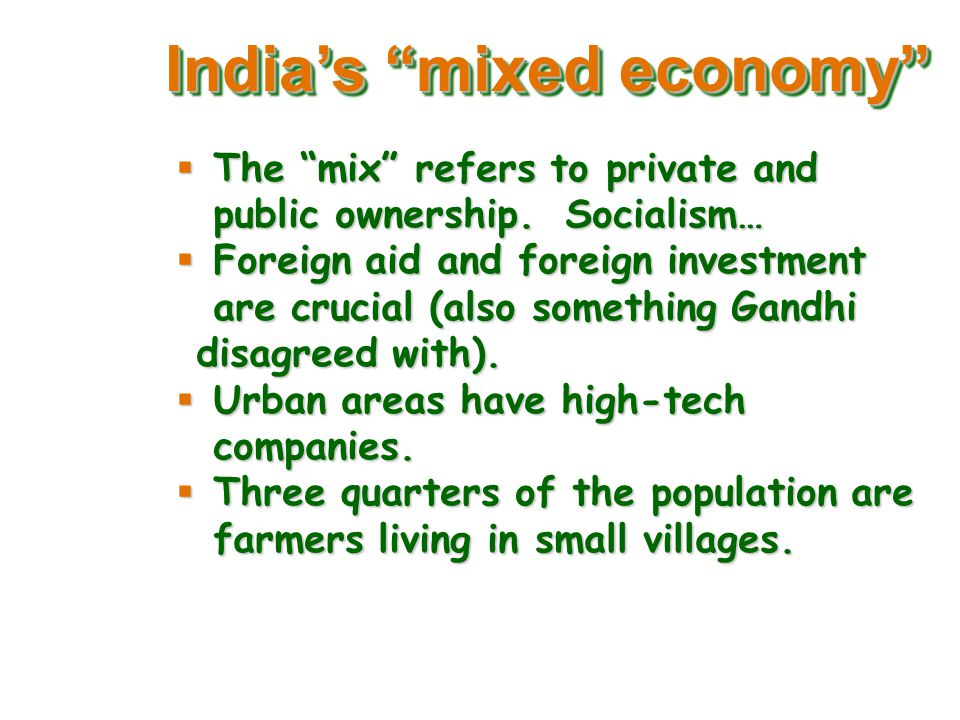 essay on mixed economy in india