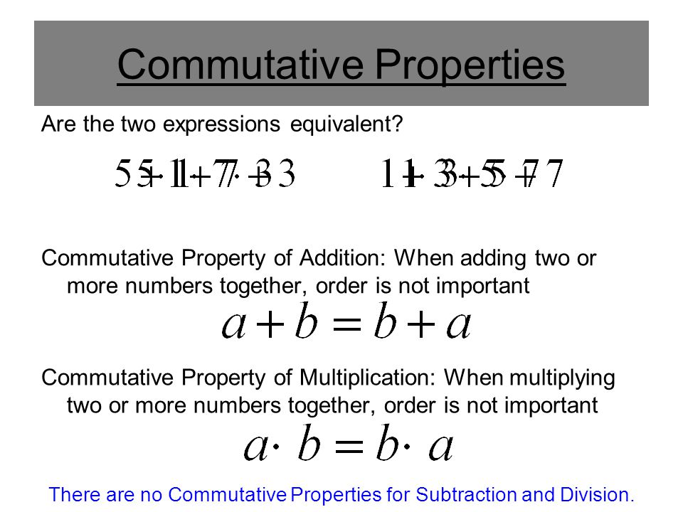Algebraic Properties. - ppt video online download