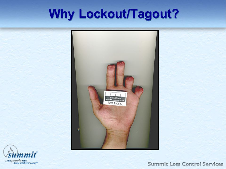 Why Lockout/Tagout