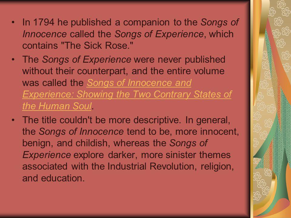the sick rose analysis pdf