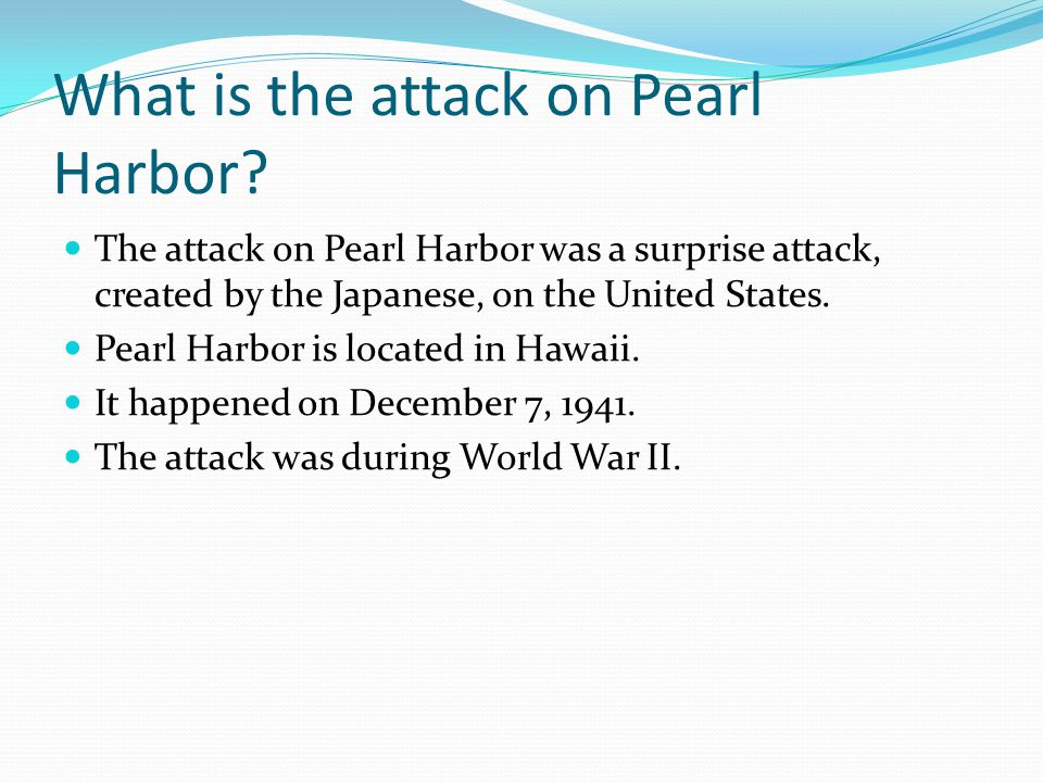 why did the japanese attack pearl harbor? essay View of the causations of the japanese attack on pearl harbor and the planning of the  an why did the japanese choose pearl harbor of all  essay topics.