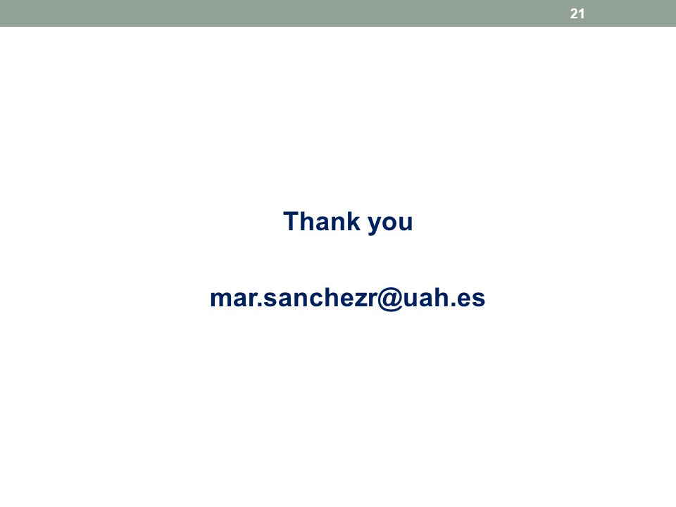 Thank you mar.sanchezr@uah.es