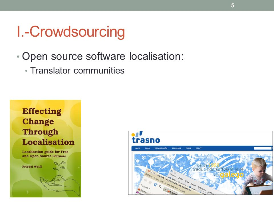 I.-Crowdsourcing Open source software localisation: