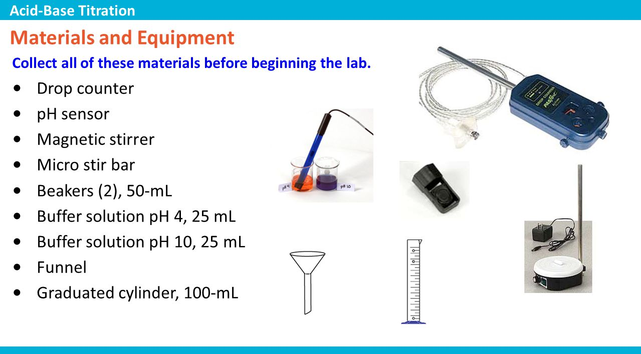 acid base ph lab In this free virtual lab simulation for kids, players learn how to calibrate a ph meter and use it to measure the acidity of standard solutions.