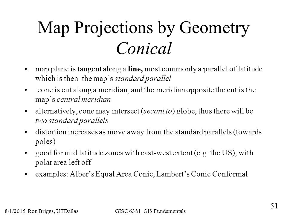 map projections by geometry conical