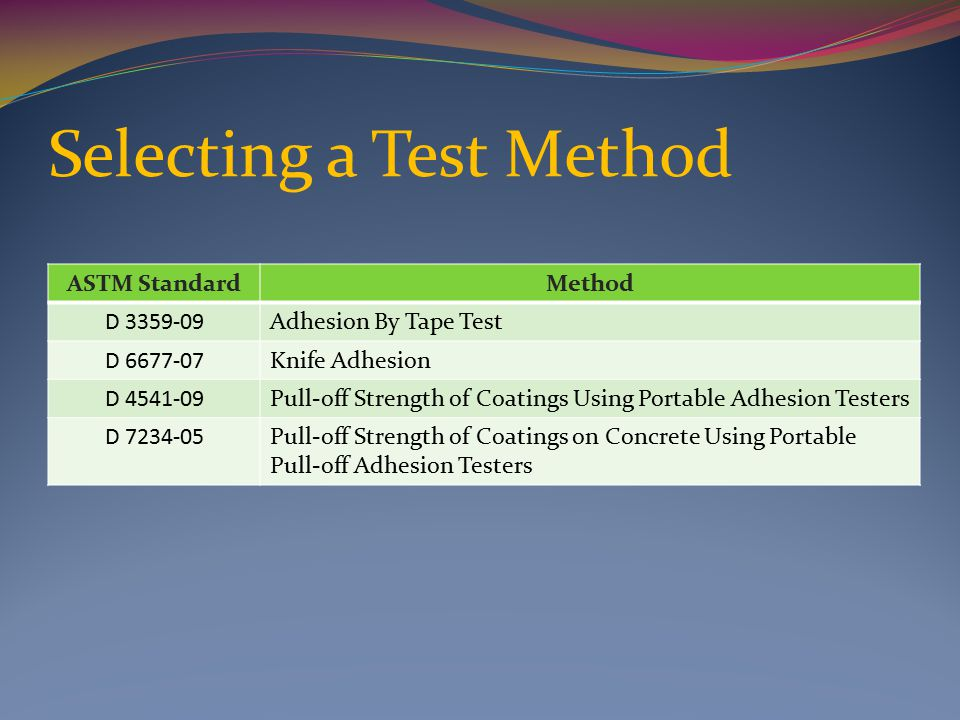Coating Adhesion Testing Methods And Equipment Ppt Download