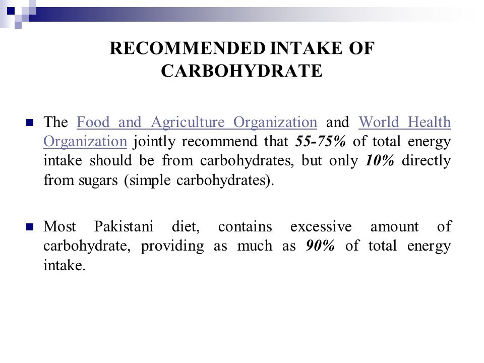 how to meet recommended intake of carbohydrates