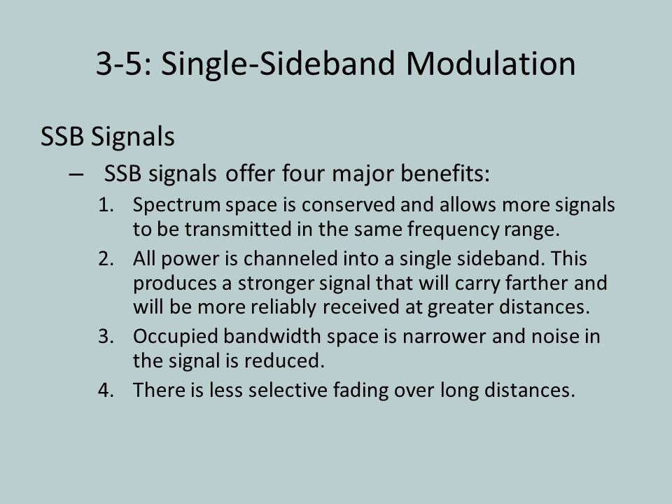 3-5: Single-Sideband Modulation