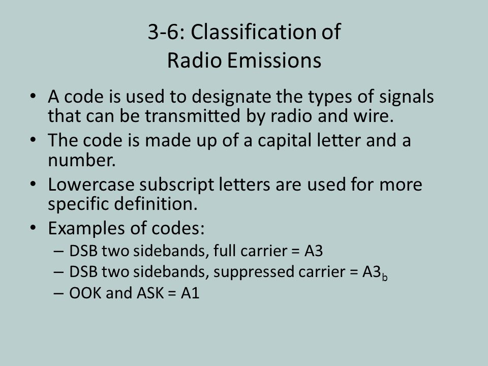 3-6: Classification of Radio Emissions