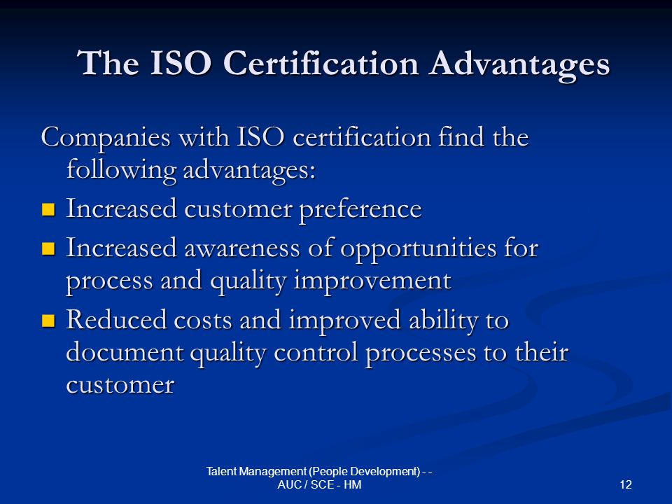 The ISO Certification Advantages