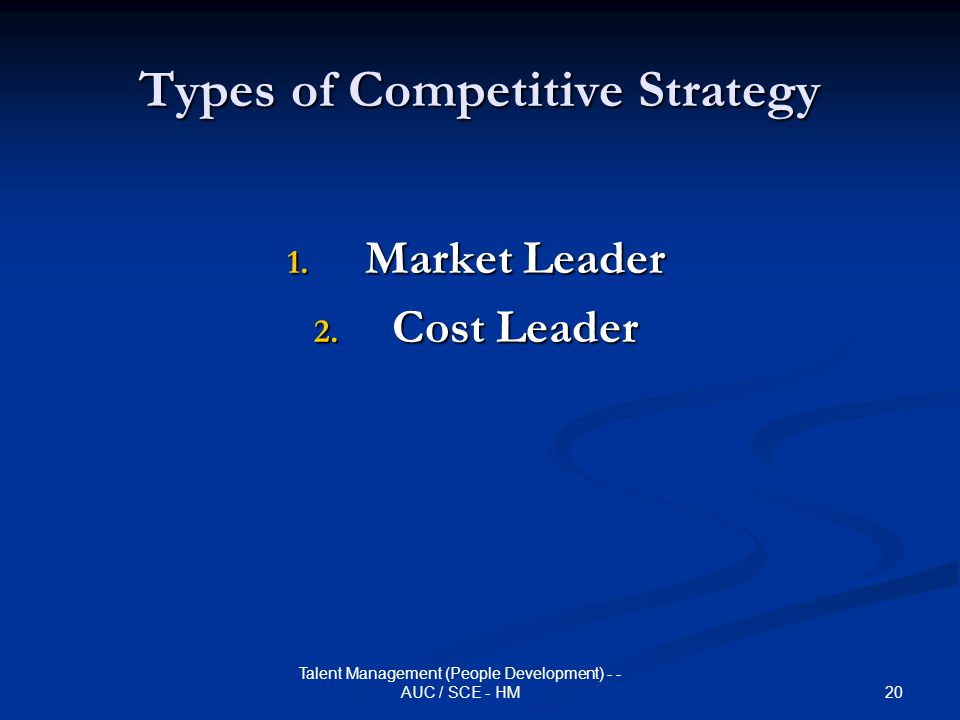 Types of Competitive Strategy