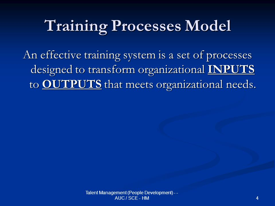 Training Processes Model