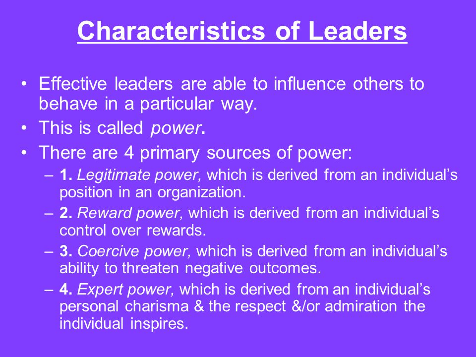 the characteristic of a good leader