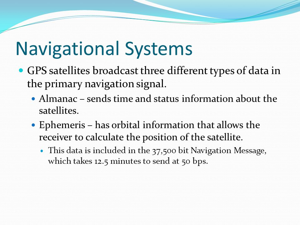 Satellite Navigation System Ppt Global Navigation