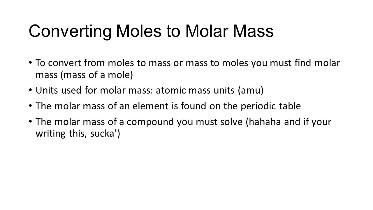 The mole chapter ppt download converting moles to molar mass nvjuhfo Choice Image