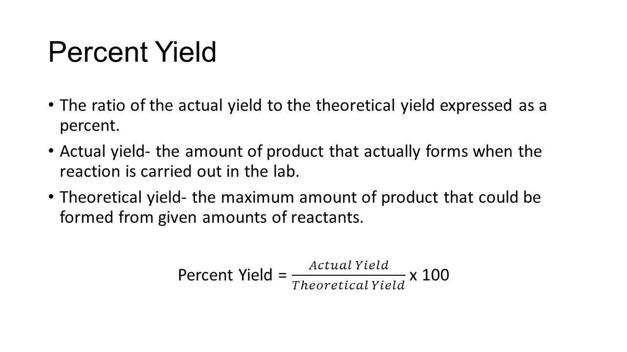 How To Find 43 Percent Yield This Figure