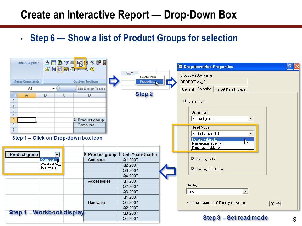 how to use drop down boxes in java gui