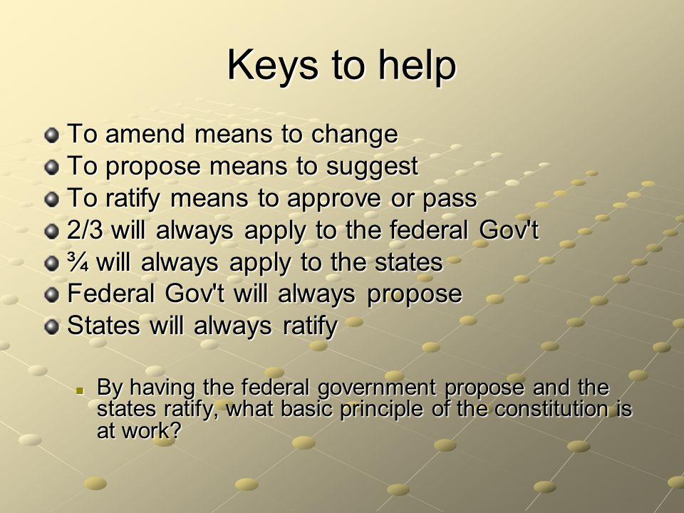 THE AMENDMENT PROCESS. - ppt download